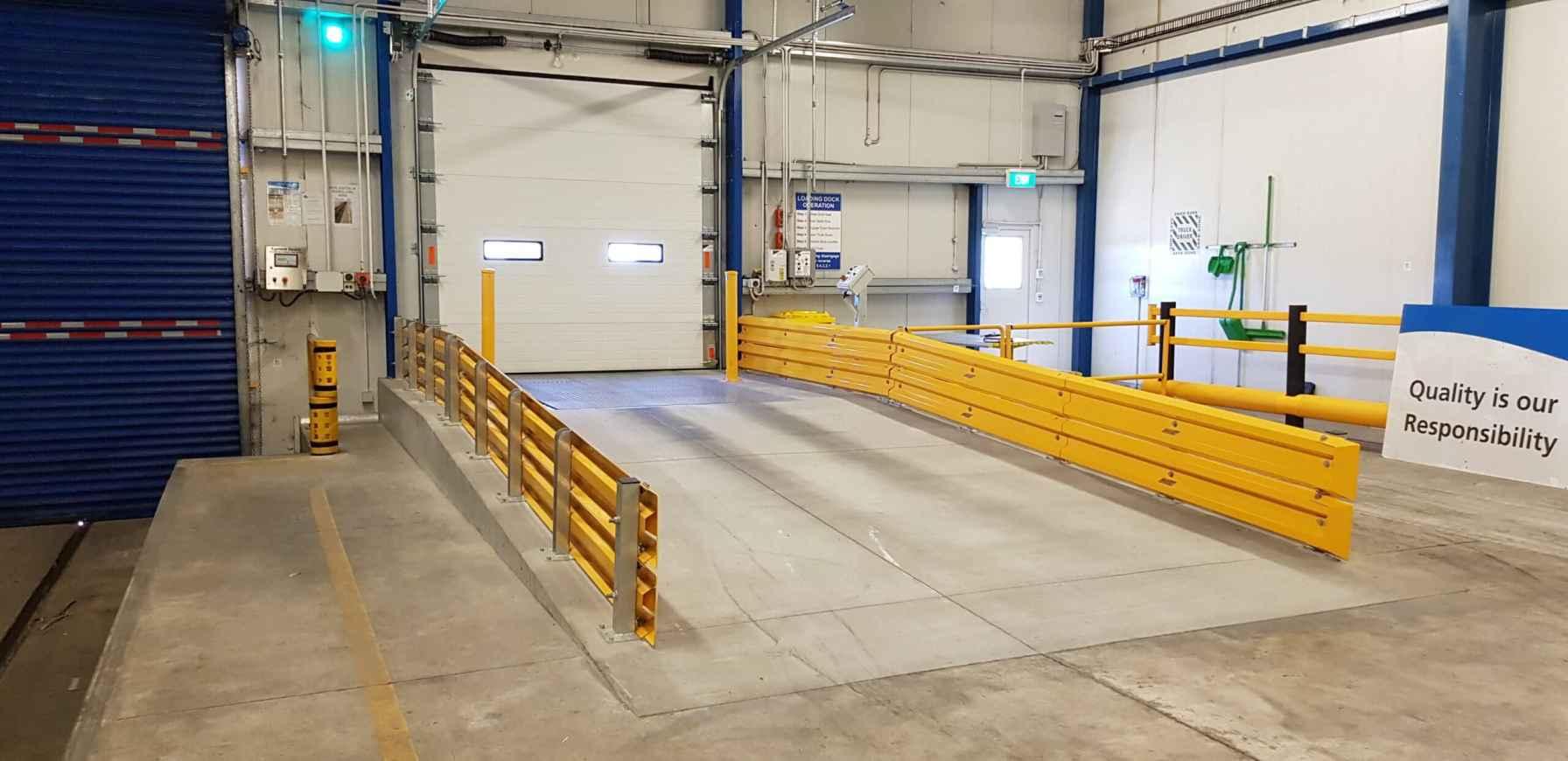 metal forklift barrier